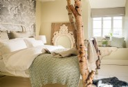 The dreamy bedroom with king-size bed and easy access to the family bathroom